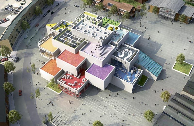 Нидерланды архитектура дом лего