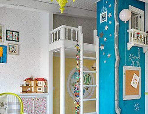 Винтаж в двухэтажной московской квартире