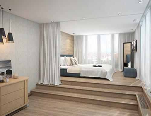 Кровать в интерьере гостиной, или 2 пути в приватную зону